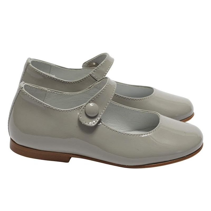 Mary Jane Patent Shoes Light Grey