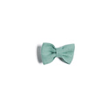 Green Linen Small Bow Clip - Hair Accessories - PEPA AND CO