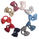 Light Blue Medium Bow Hair Tie - Hair Accessories - PEPA AND CO
