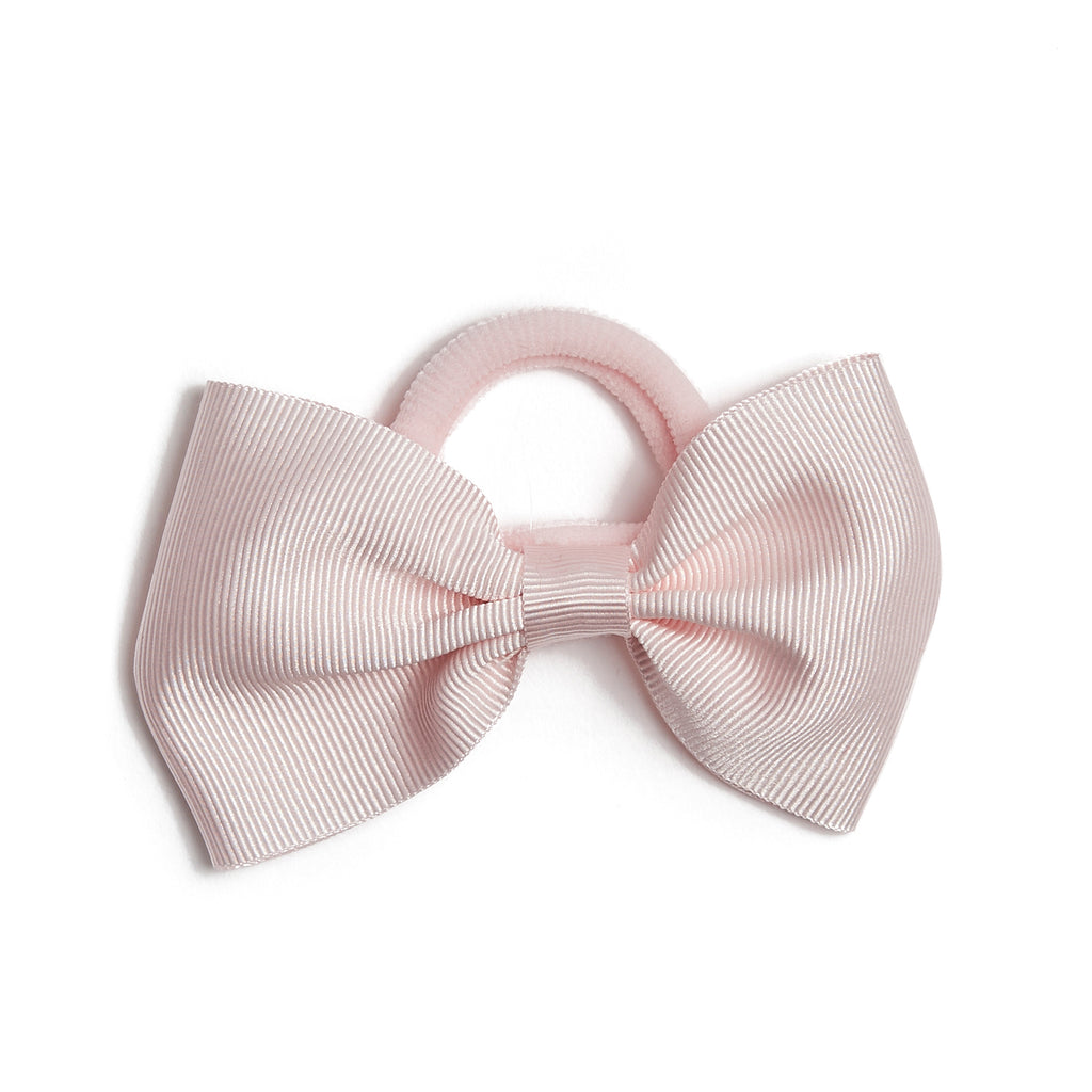 Light Pink Medium Bow Hair Tie - Hair Accessories - PEPA AND CO