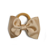 Camel Medium Bow Hair Tie - Hair Accessories - PEPA AND CO