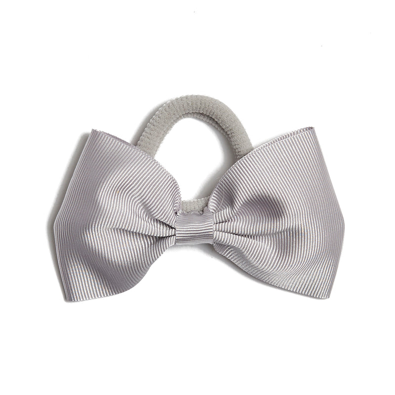 Light Grey Medium Bow Hair Tie - Hair Accessories - PEPA AND CO