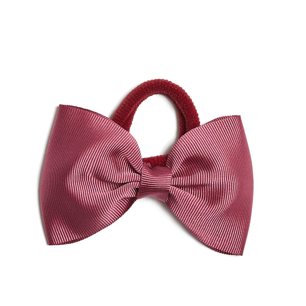 Raspberry Pink Medium Bow Hair Tie - Hair Accessories - PEPA AND CO