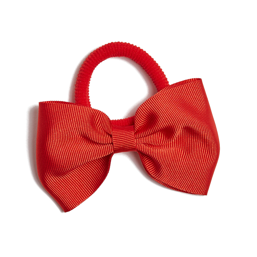 Red Medium Bow Hair Tie - Hair Accessories - PEPA AND CO