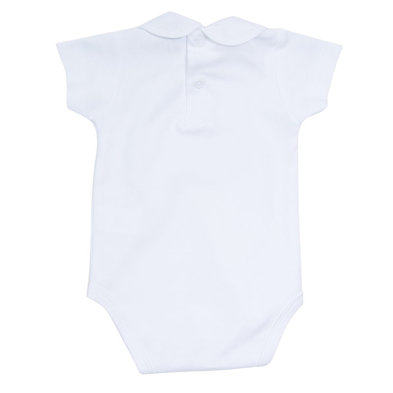 Soft Cotton Baby Bodysuit White Collar - Bodysuit - PEPA AND CO