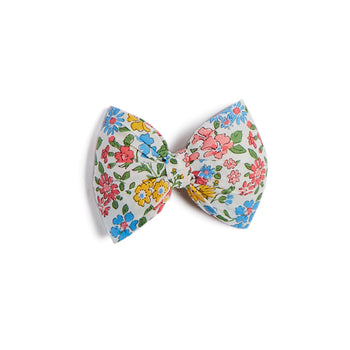 Pink Floral Big Bow Clip - Hair Accessories - PEPA AND CO