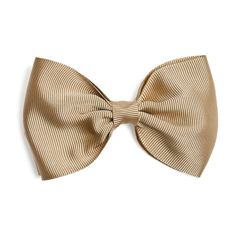 Camel Medium Bow Clip - Hair Accessories - PEPA AND CO