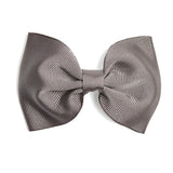 Dark Grey Medium Bow Clip - Hair Accessories - PEPA AND CO