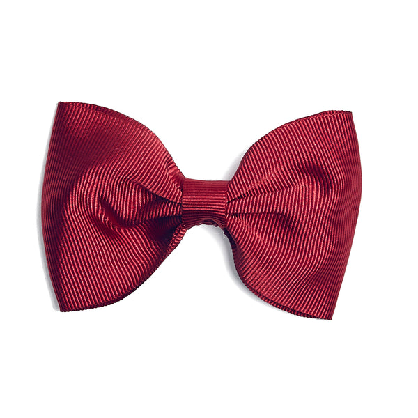 Medium bow clip - Burgundy - Hair Accessories - PEPA AND CO
