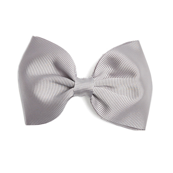 Light Grey Medium Bow Clip - Hair Accessories - PEPA AND CO