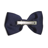 Medium bow clip - Navy - Hair Accessories - PEPA AND CO