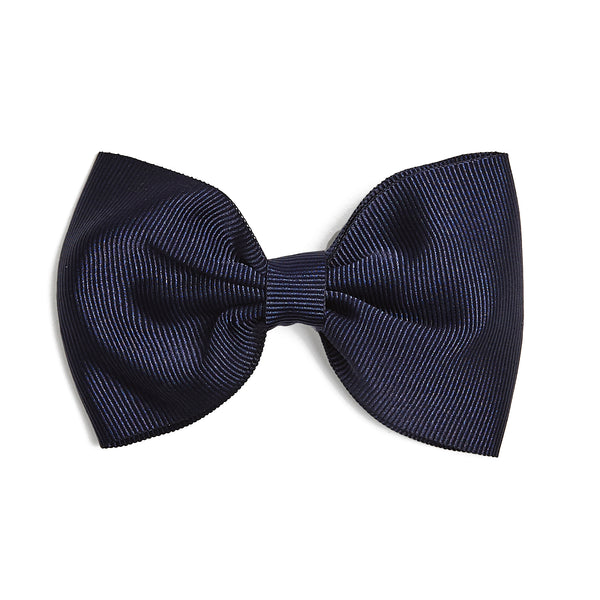 Navy Medium Bow Clip - Hair Accessories - PEPA AND CO