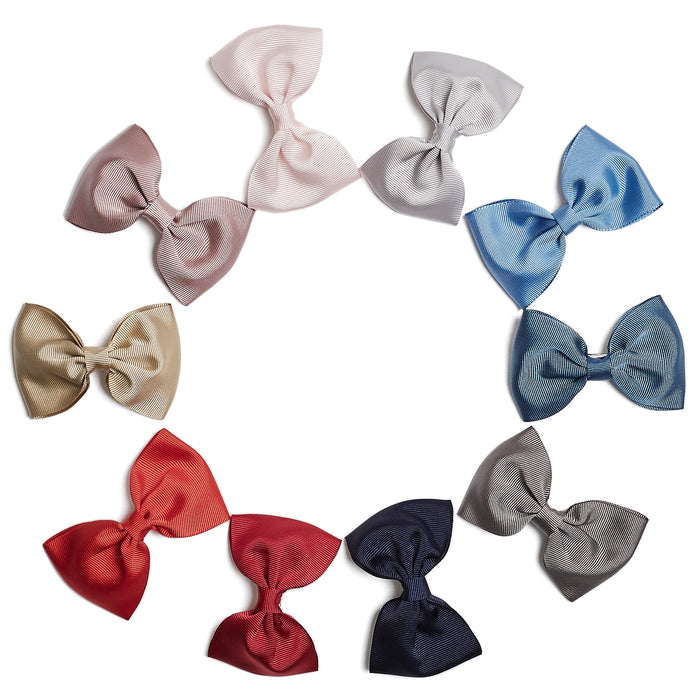 Light Blue Medium Bow Clip - Hair Accessories - PEPA AND CO