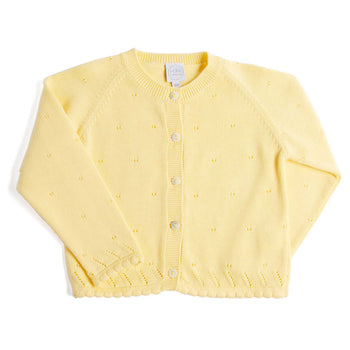 Yellow Openwork Cardigan - Knitwear - PEPA AND CO