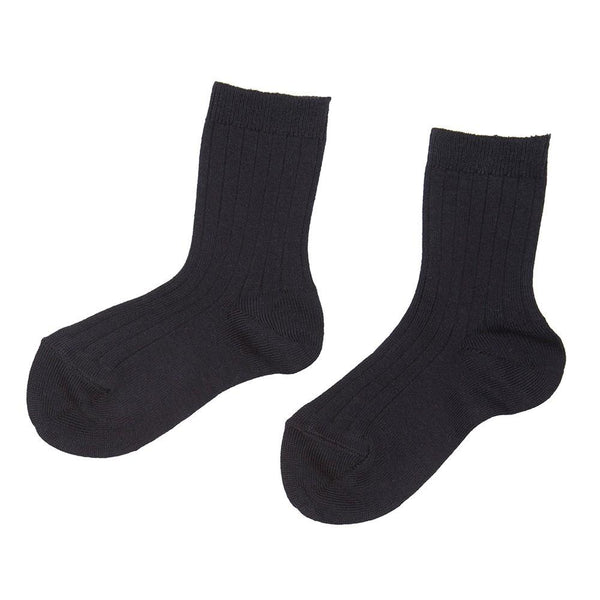 Ribbed short socks - Navy