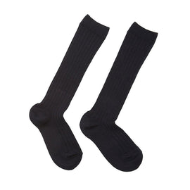 Navy Ribbed Knee-High Socks - Socks - PEPA AND CO