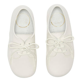 Boy's white leather celebration shoes - Shoes - PEPA AND CO