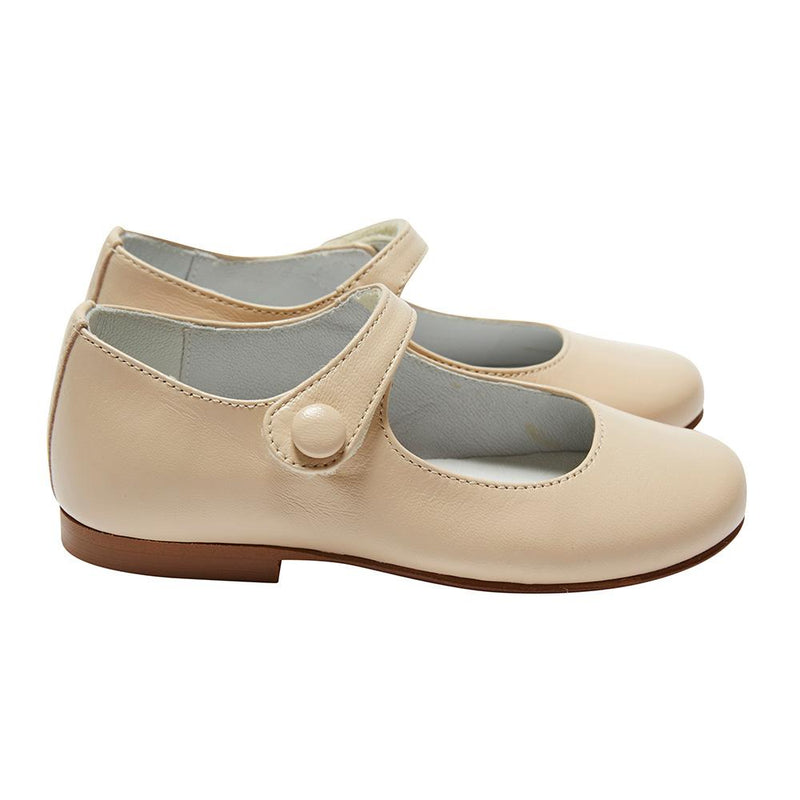Girl's Mary-jane beige leather shoes - Shoes - PEPA AND CO