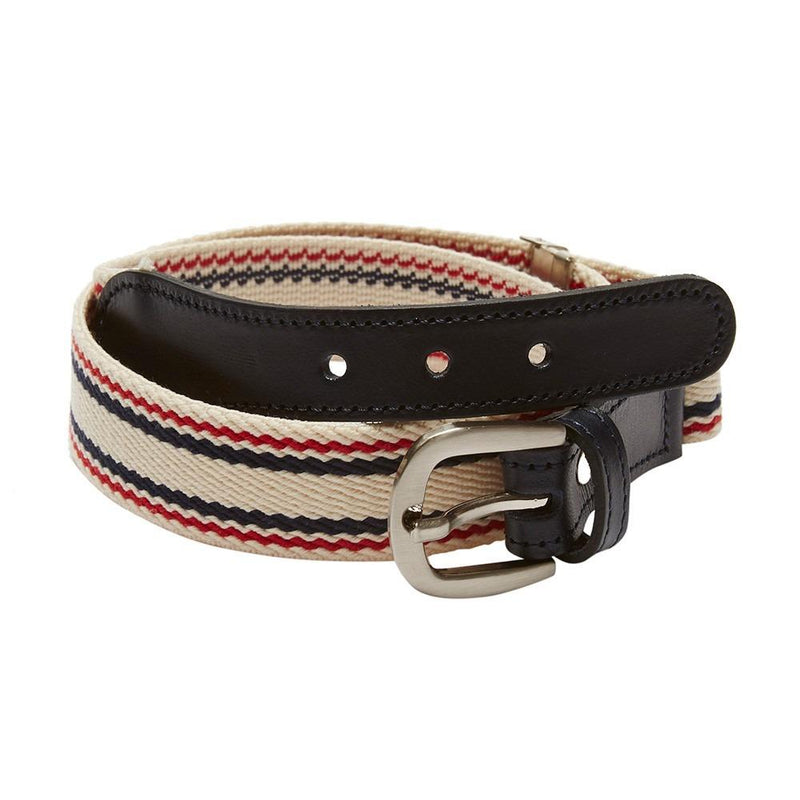 Boys striped belt - Beige