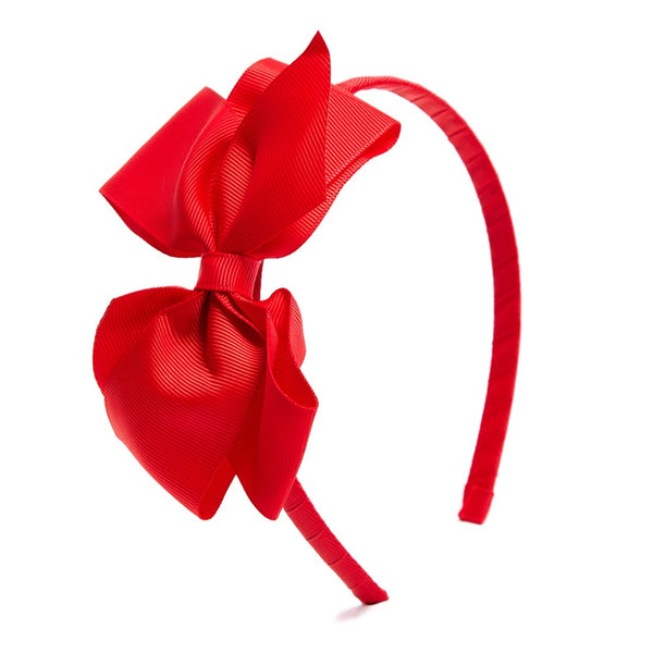 Red Big Bow Hairband - Hair Accessories - PEPA AND CO
