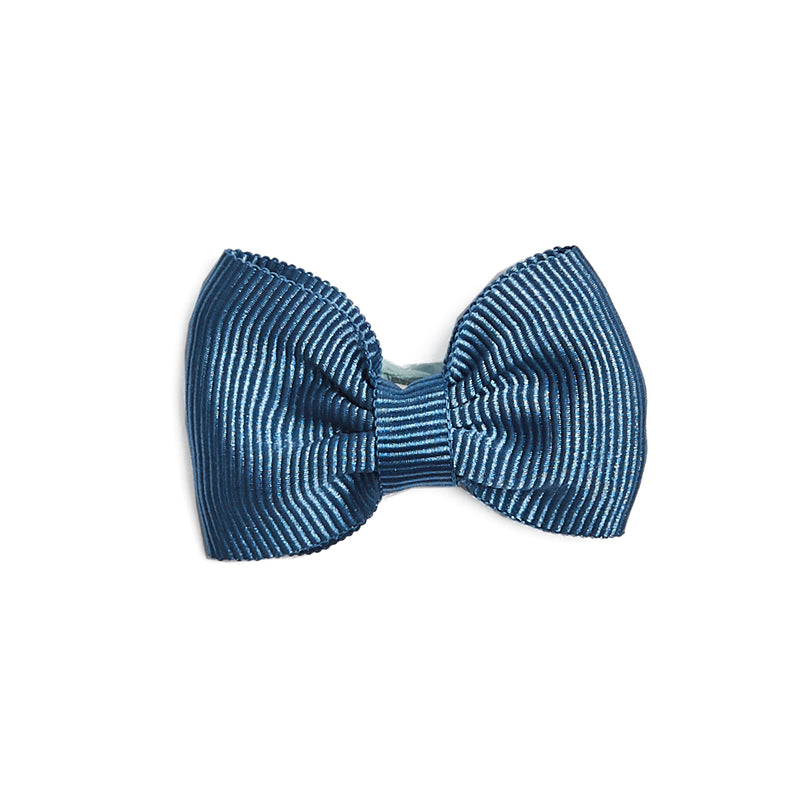 Blue Small Bow Clip - Hair Accessories - PEPA AND CO