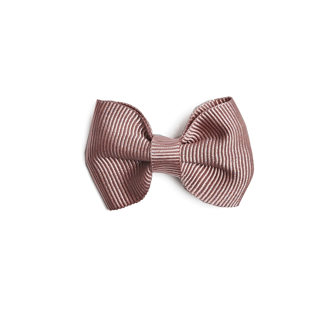 Small bow clip - Dusty Pink