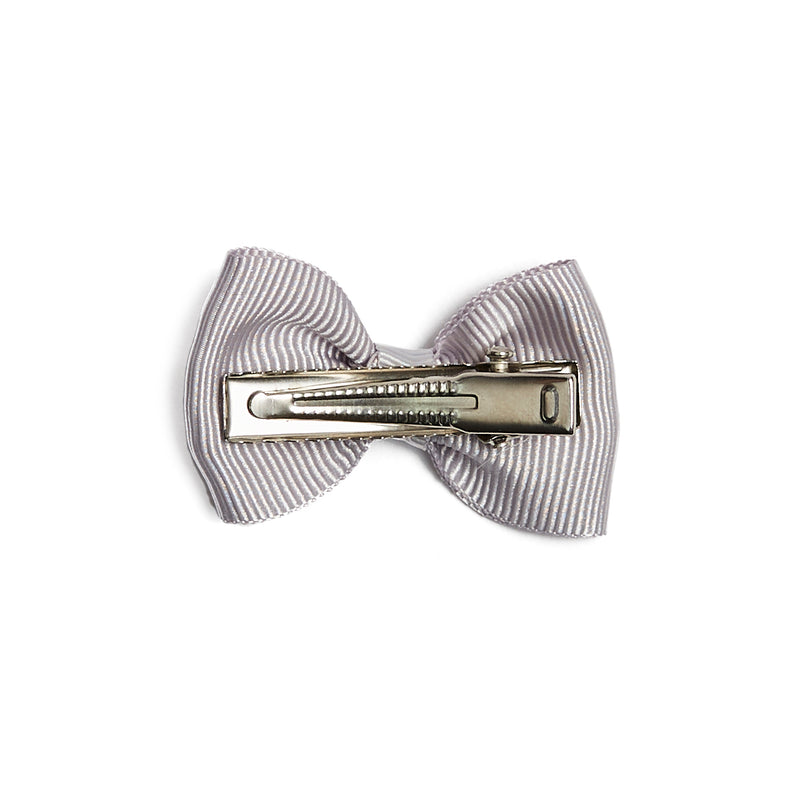 Small bow clip - Light Grey - Hair Accessories - PEPA AND CO