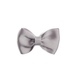 Light Grey Small Bow Clip - Hair Accessories - PEPA AND CO