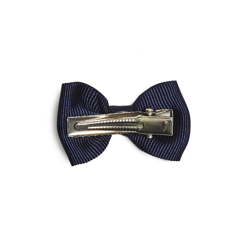 Navy Bow Small Clip - Hair Accessories - PEPA AND CO