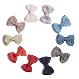 Dark Grey Small Bow Clip - Hair Accessories - PEPA AND CO