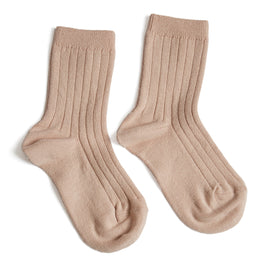 Ribbed Short Socks - Pink - Socks - PEPA AND CO