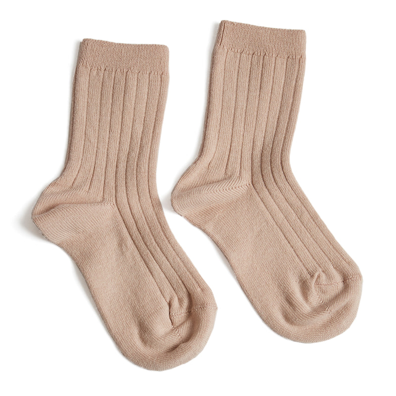 Ribbed Short Socks - Pale Pink - Socks - PEPA AND CO