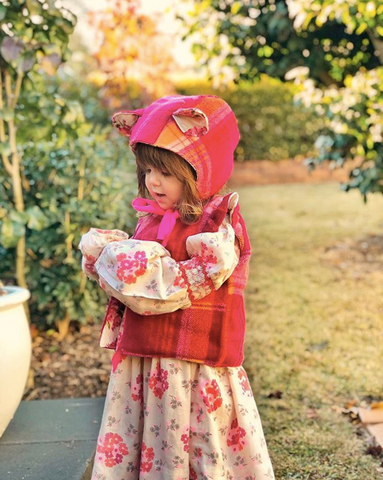 Little Wildling Bonnet and Wool Vest Set