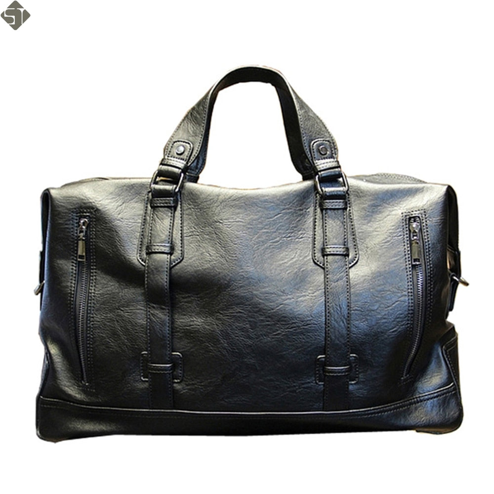 Fashion Men's High-capacity leather handbag