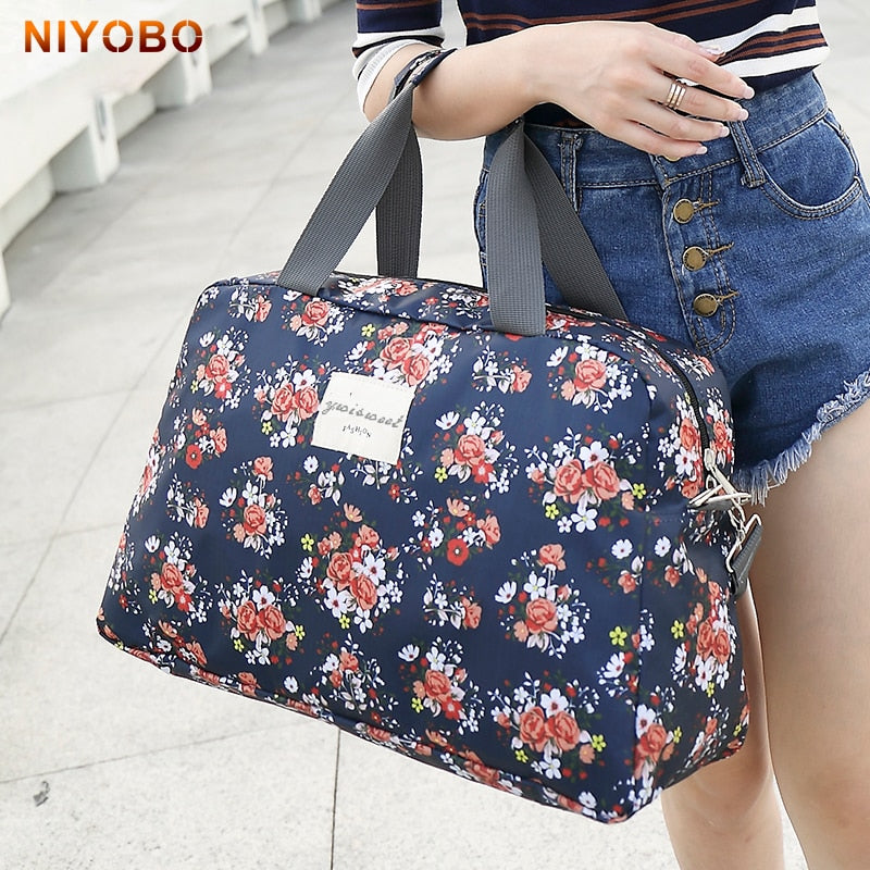 New Fashion Portable Luggage Bag Floral Print