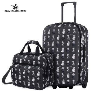 DAVIDJONES wheel travel suitcase set