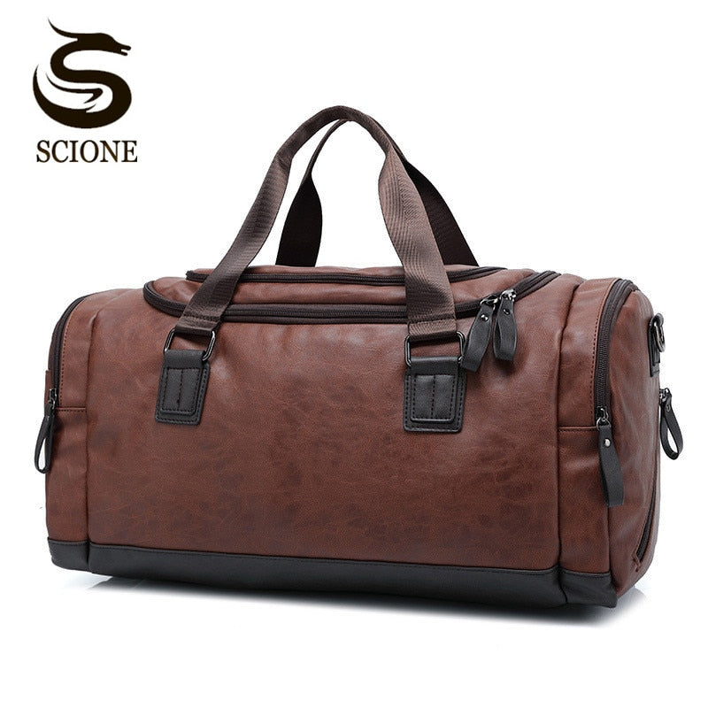 Top Quality Casual Travel Duffel Bag PU Leather
