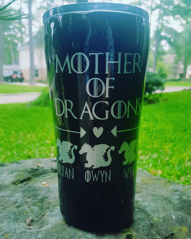 Mother or Father of Dragons Tumbler