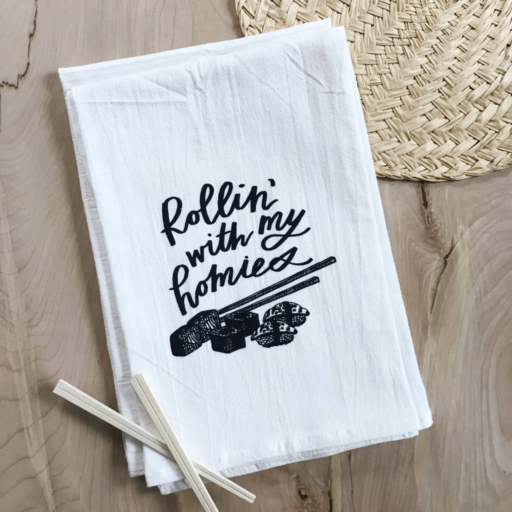 Rollin' With My Homies - Sushi Flour Sack Towel