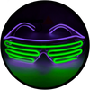 X95 : Violet + Lime Moonglasses ™