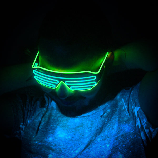 Lime Glacier © Center for Poetic Justice • Moonglasses Electroluminescent El Wire Wearable Tech Glasses Eyewear New Years Wedding Festival Concert Music Producer Merchandise Gift LED Glasses Wearable Tech Christmas Gift Best Present Cool New Smart College Sports Stadium Football Tailgate Wearable Tech Next Big Thing Trend