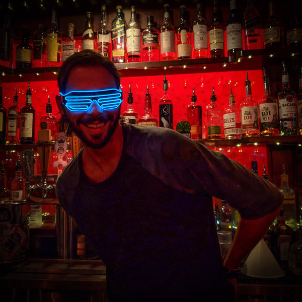 Sapphire Glacier Blue Royal Navy Ice © Center for Poetic Justice • Moonglasses Electroluminescent El Wire Wearable Tech Glasses Eyewear New Years Wedding Festival Concert Music Producer Merchandise Gift LED Glasses Wearable Tech Christmas Gift Best Present Cool New Smart College Sports Stadium Football Tailgate Wearable Tech Next Big Thing Trend