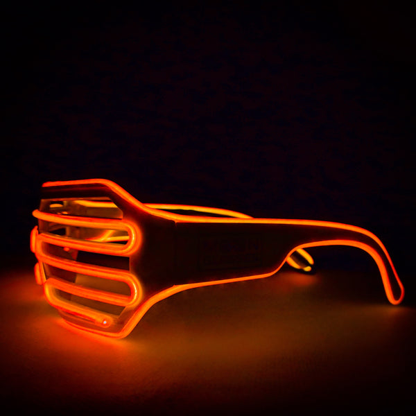 Tangerine Orange Solid © Center for Poetic Justice • Moonglasses Electroluminescent El Wire Wearable Tech Glasses Eyewear New Years Wedding Festival Concert Music Producer Merchandise Gift LED Glasses Wearable Tech Christmas Gift Best Present Cool New Smart College Sports Stadium Football Tailgate Wearable Tech Next Big Thing Trend