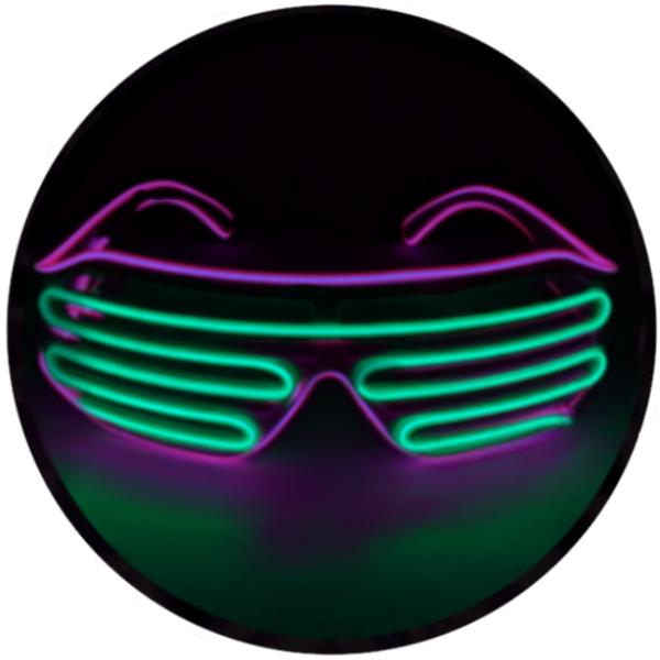 © Center for Poetic Justice, LLC • Moonglasses Electroluminescent (el wire) Eyewear