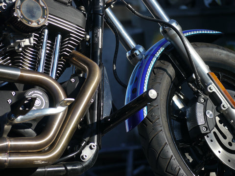 Harley Sportster 2004+ stunt kit (cage and rear pegs) – Higdonion