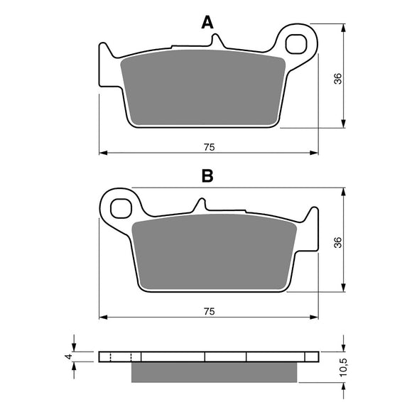 BRAKE PADS GOLDFREN  GF003-S3