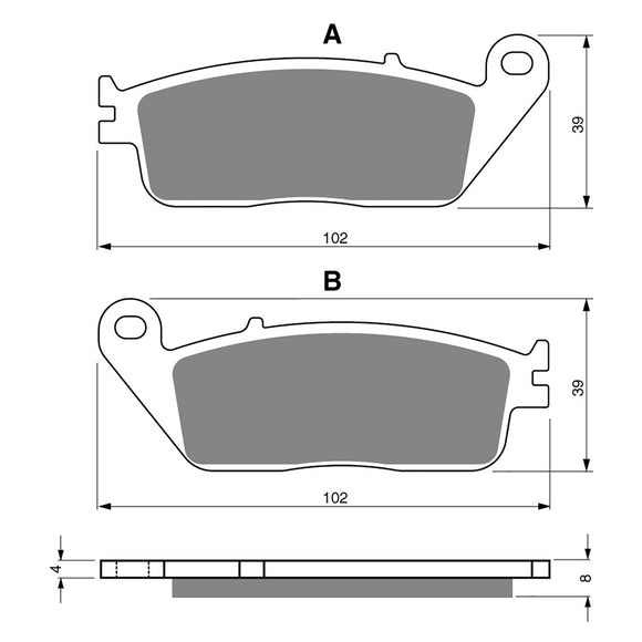 BRAKE PADS GOLDFREN  GF022-S3