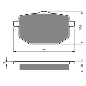 BRAKE PADS GOLDFREN  GF029-S3