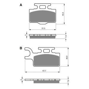 BRAKE PADS GOLDFREN  GF167-K5