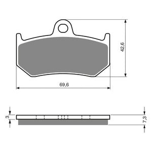 BRAKE PADS GOLDFREN  GF235-S3
